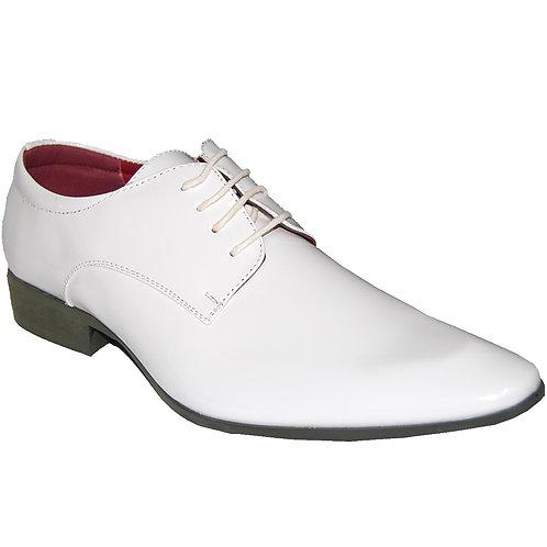 KRAZY Shoe Artists Casablanca Men's White Lace-up Plain Toe Dress Shoe