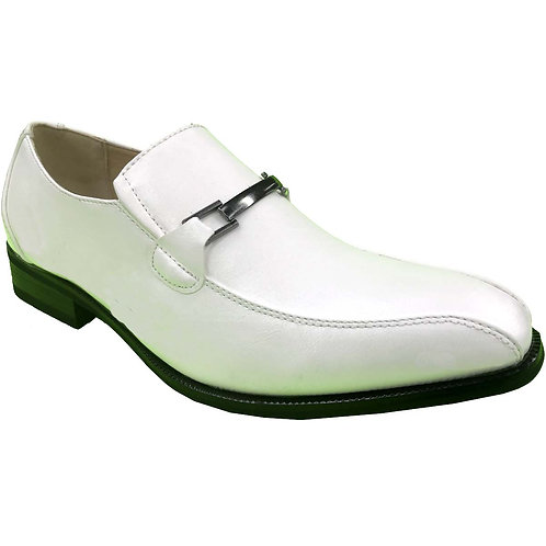 Shoe Artists Republic Collection Men's White Loafer