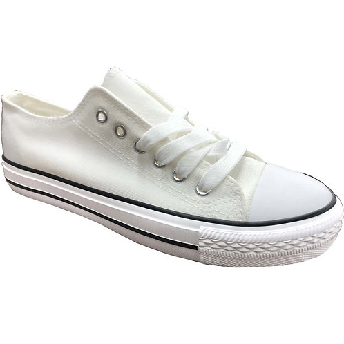 Cool Skater Style Shoe Artists Republic Collection Men's White Canvas Sneaker