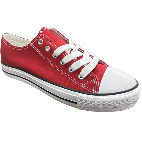Fun Skater Style Shoe Artists Republic Collection Men's Red Canvas Sneaker