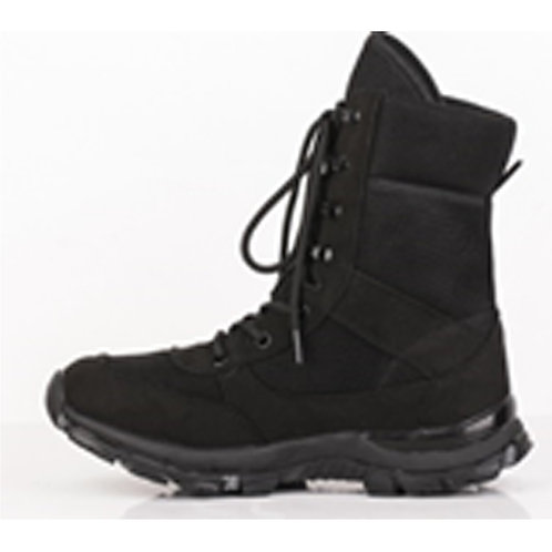 Amazonian Men's 8 inch Black Lace Up with Suede Leather Upper Combat Boot