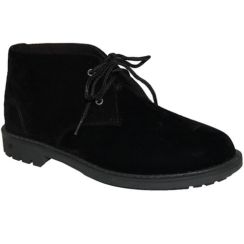 Suntum Men's Black Casual Lace-up Suede Chukka Boot