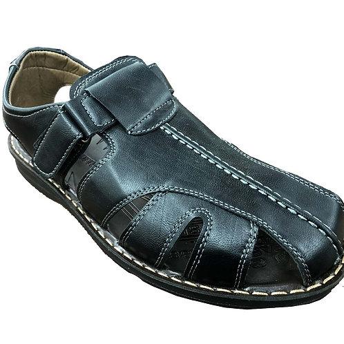 Slimex13 KRAZY Shoe Artists Relaxing Men's Slip-on Velcro Strap Black Sand