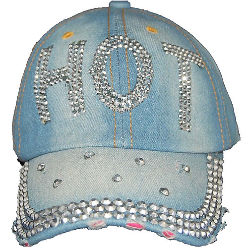 Hot Stuff Krazy Artists Lady's Designer Denim Strap-back Hat, One Size