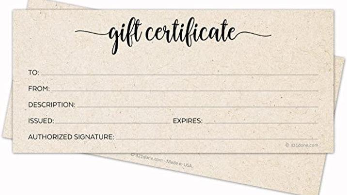 1 Months Membership Gift Certificate