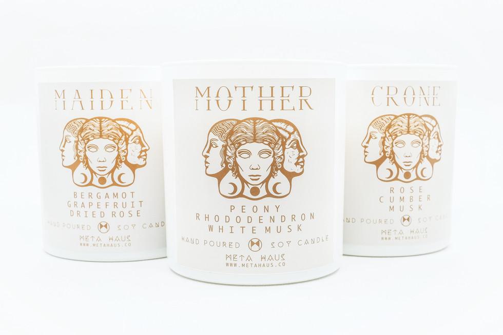 Triple Goddess Candle Series