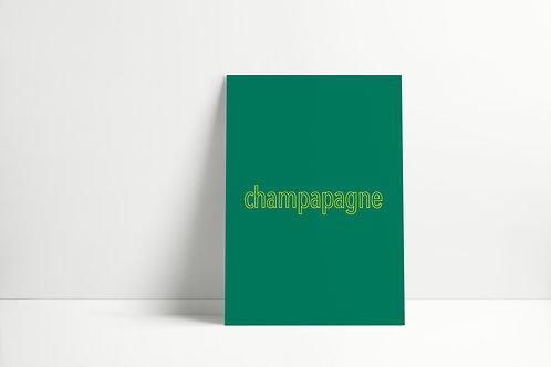 Postkaartje - champapagne