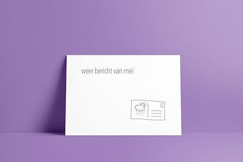Postkaartje - weer bericht van mei