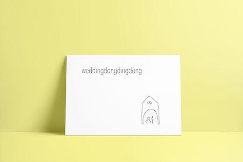 Postkaartje - weddingdong