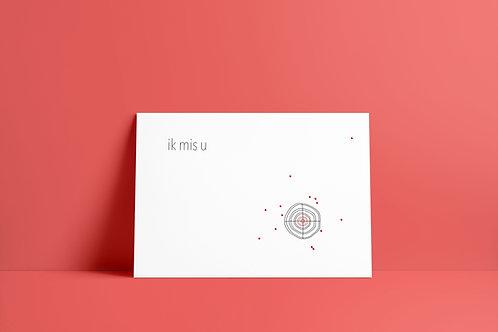 Postkaartje - ik mis u