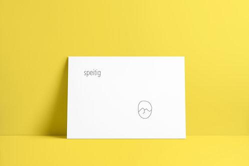 Postkaartje - speitig