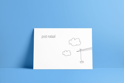 Postkaartje - post nataal