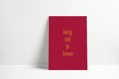 Postkaartje - lang zal je lever