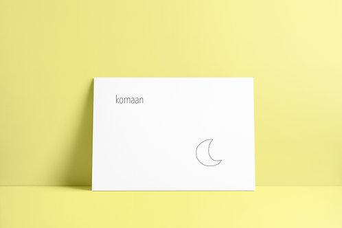 Postkaartje - komaan