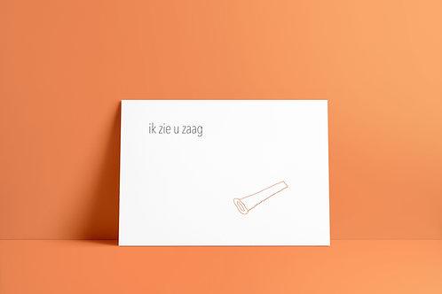 Postkaartje - ik zie u zaag