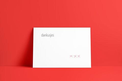 Postkaartje - dankusjes