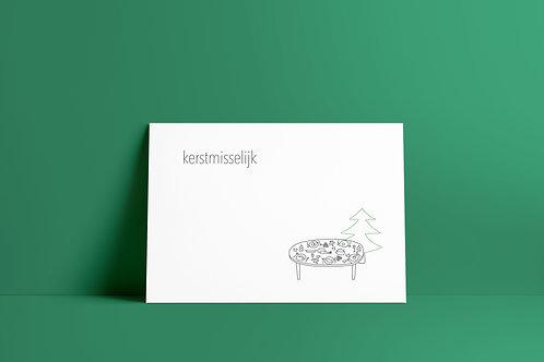 Postkaartje - kerstmisselijk