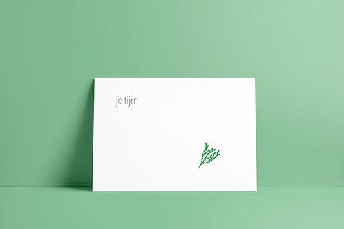 Postkaartje - je tijm