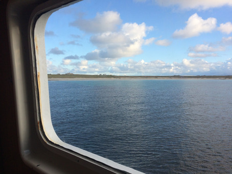 Arriving on North Ronaldsay