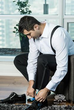 013 - Wedding - Toronto - Groom getting ready - WP