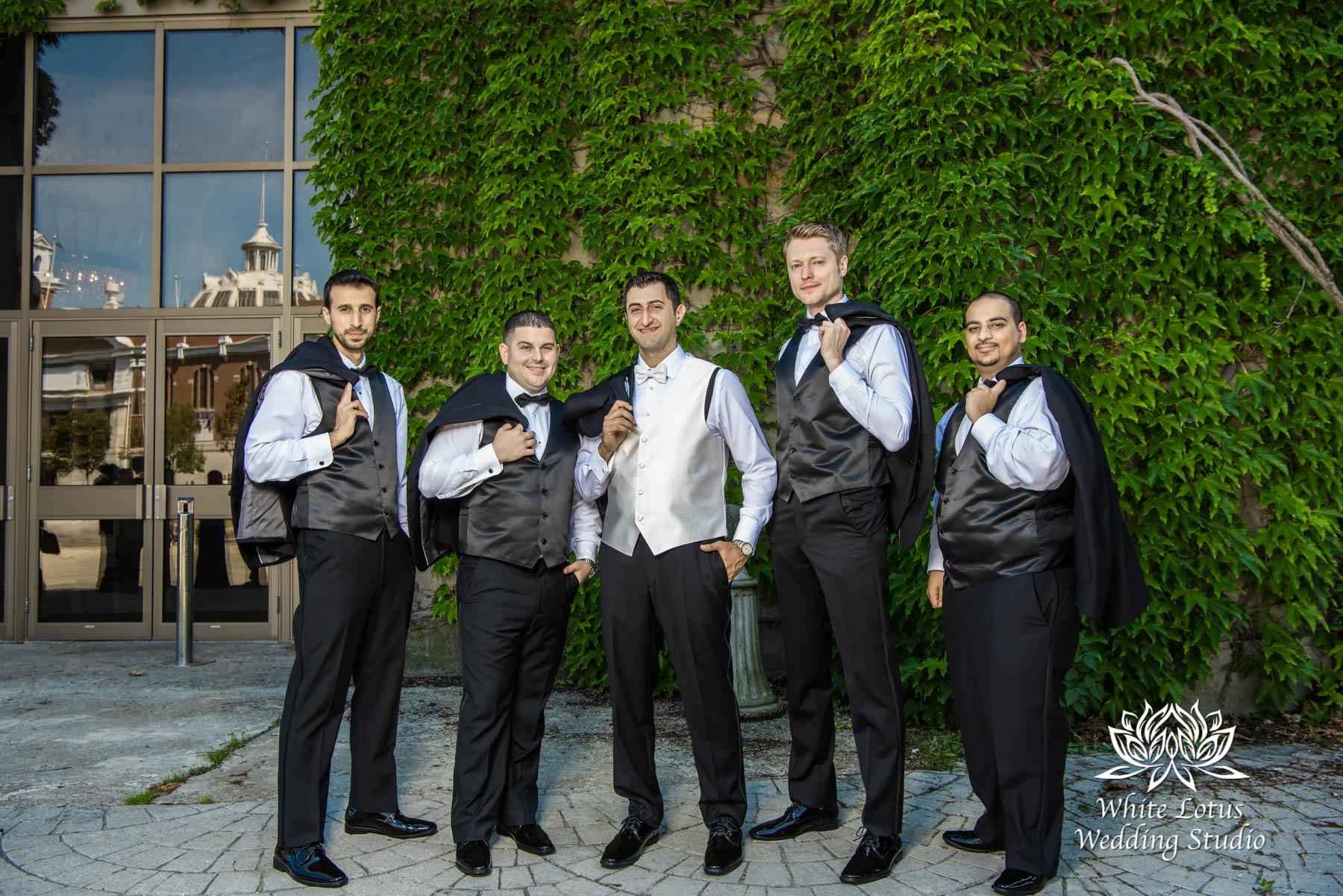 172 - Wedding - Toronto - Liberty Grand - Groomsmen - PW
