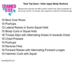 Tank Top Guns – Killer Upper Body Workout