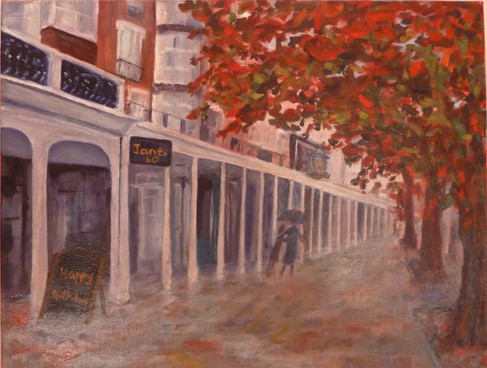 The Pantiles, Royal Tunbridge Wells, in autumn..