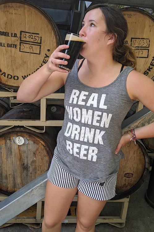 Real Women Drink Beer Tank