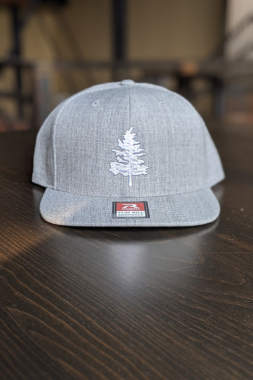 Gray Flat Bill Hat