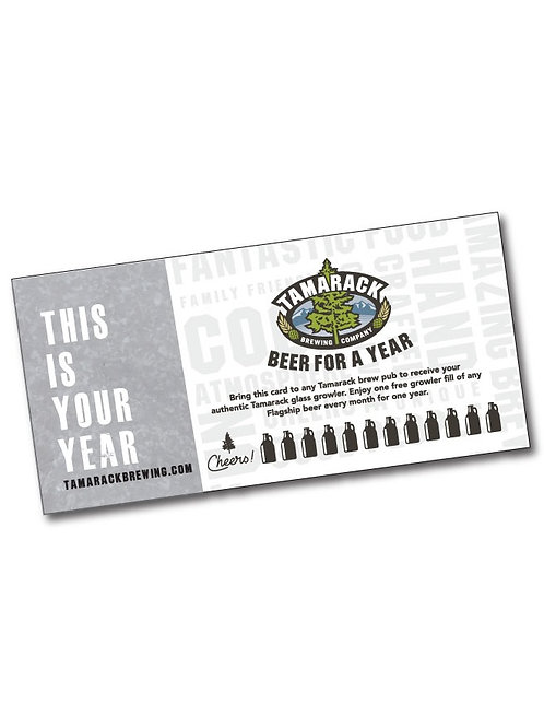 Beer For a Year!