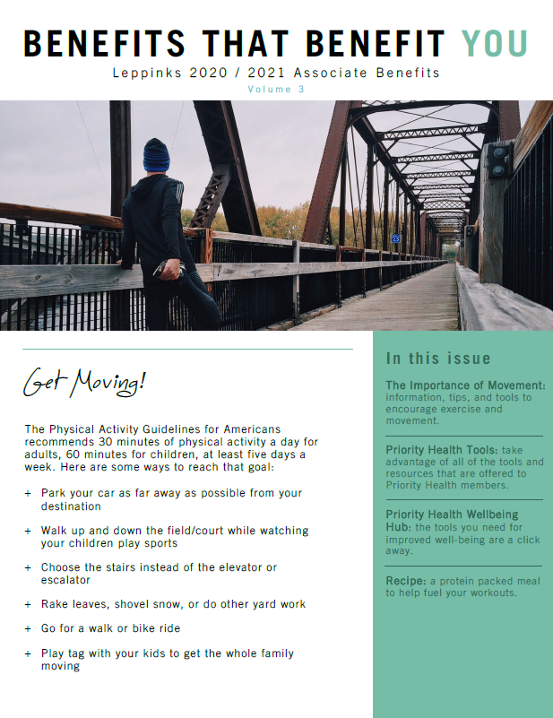 Benefits Newsletter Cover