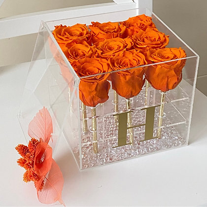 Akrilik Kutuda Solmayan Güller