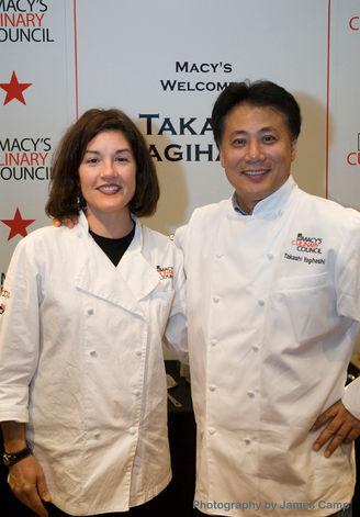 nan mcculloch & Takashi Yagihashi celebrity chef demo For Macys Culinary Council