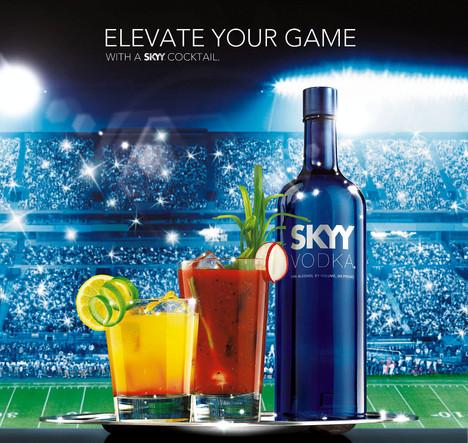 sky vodka print advertising