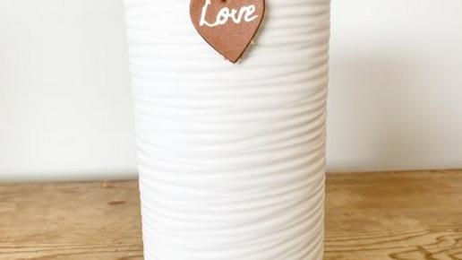 White & Grey Vase