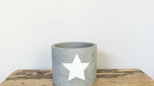 White Star Cement Planter