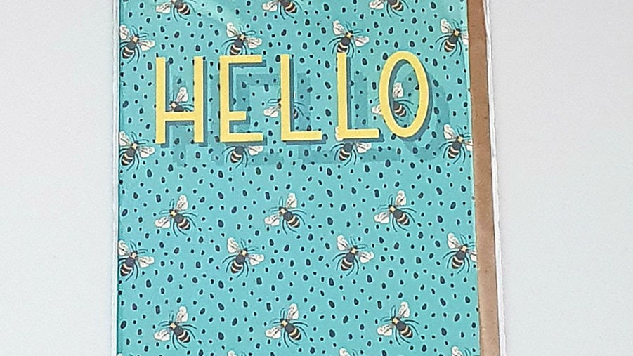 Hello Bee Greetings Card