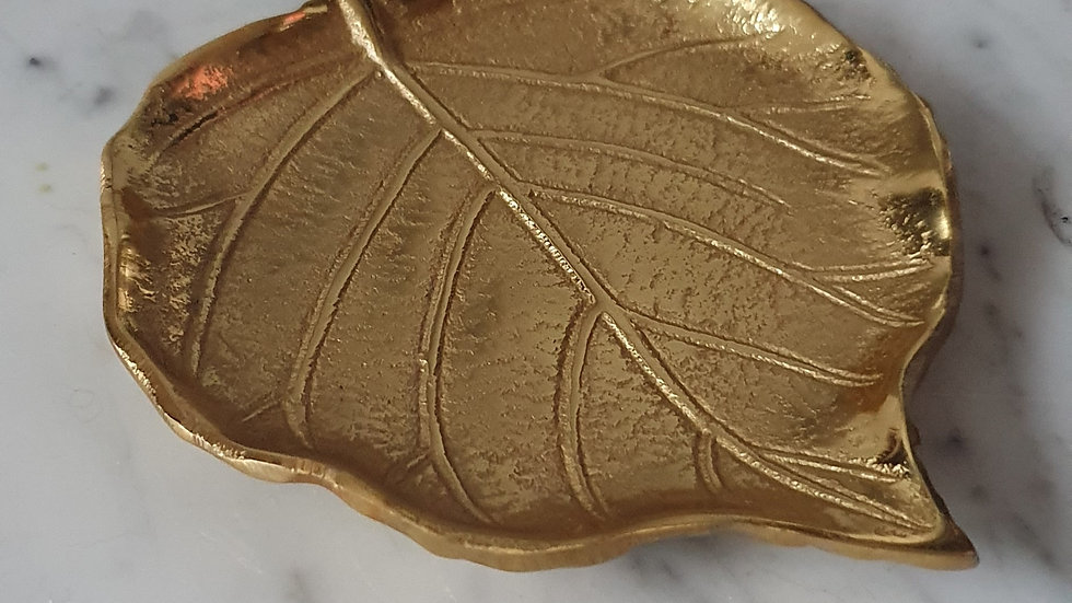 Gold Leaf Trinket Dish