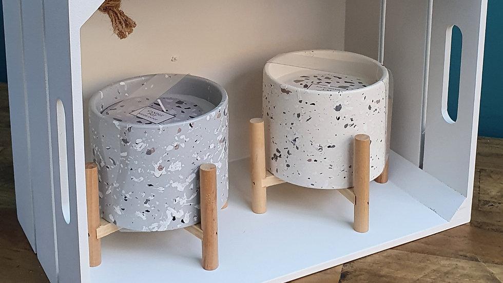 Terrazzo Candle Pot