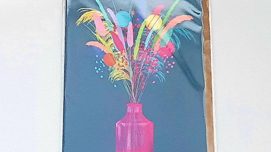 Dried Flowers Greetings Card