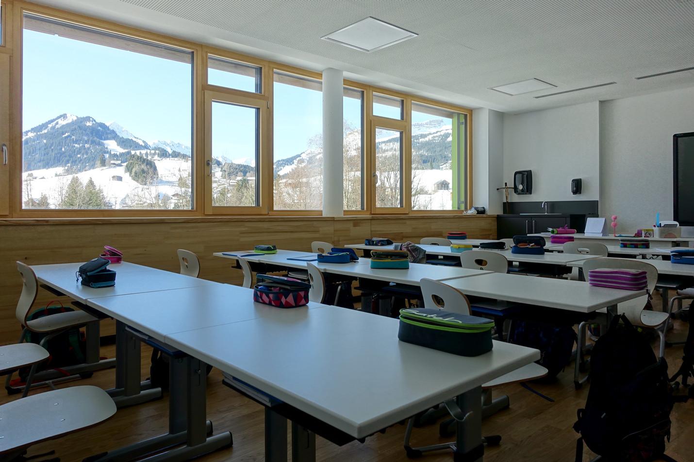 Klassenzimmer der Mittelschule