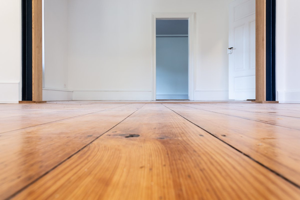 verlegter Holzboden