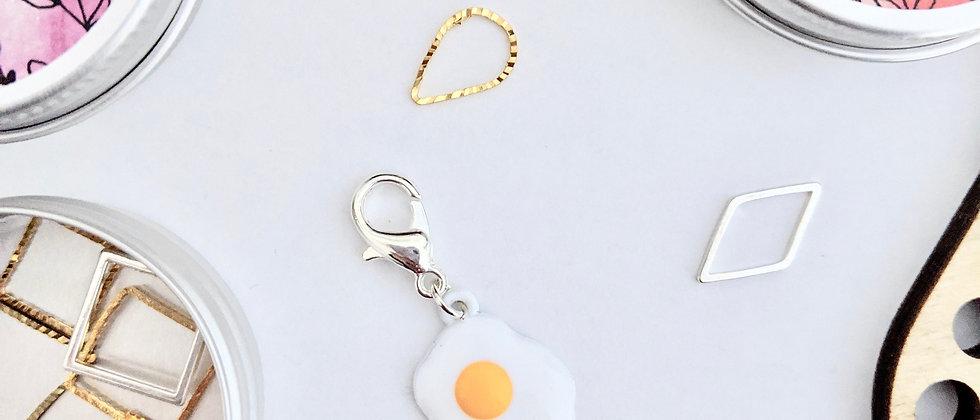Fried Egg Stitch Marker