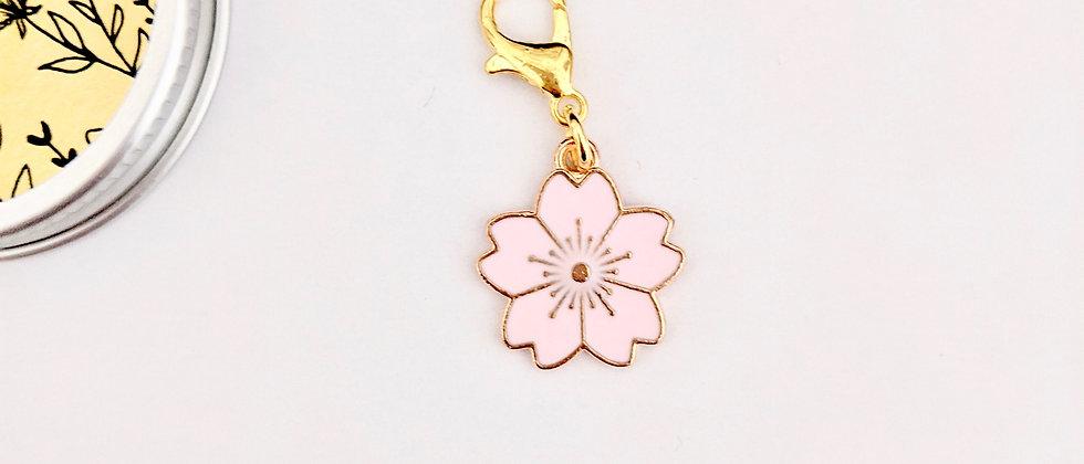 Lotus flower stitch marker