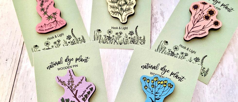 Dye Plant Wooden Pin
