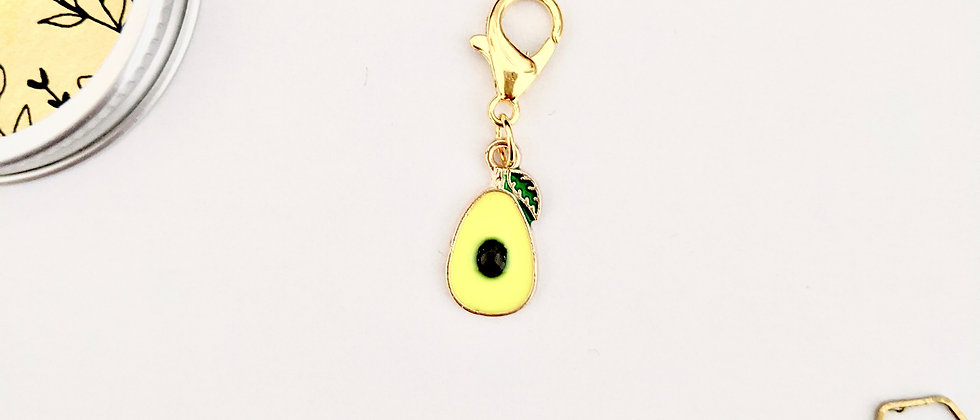 Avocado stitch marker