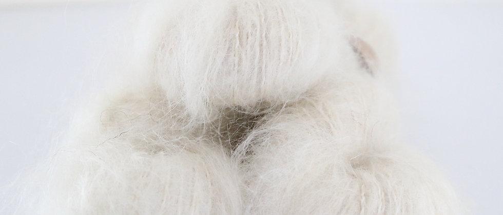 Natural - Brushed Mohair DK