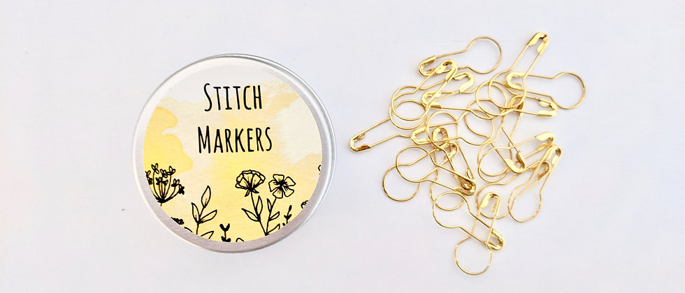 Stitch Marker and Storage Tin Set