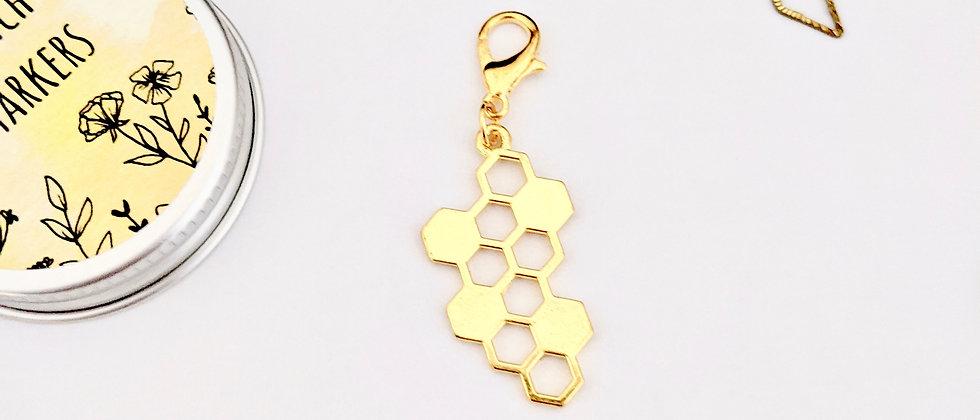 Honeycomb stitch marker