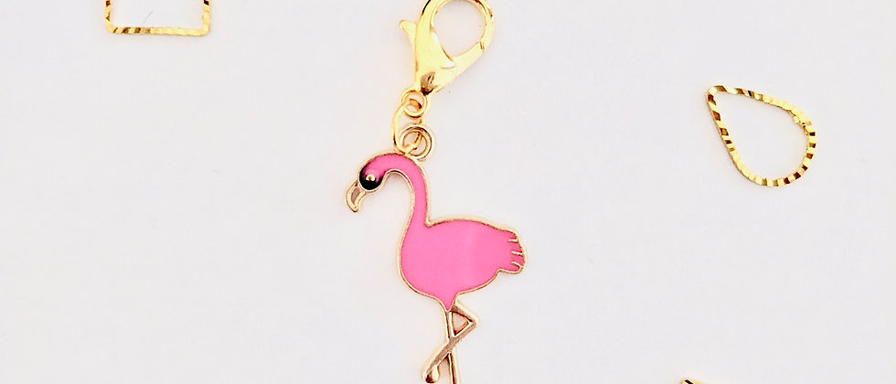 Flamingo Stitch Marker